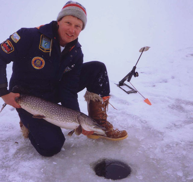Wil Wegman with pike