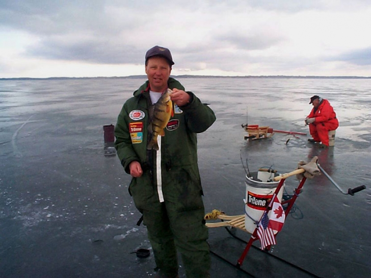 Wil Wegman with jumbo perch
