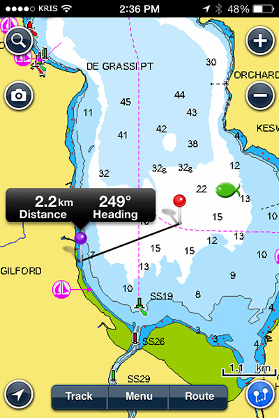 navionics app for android fishing reports