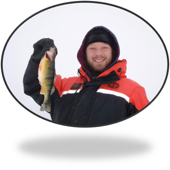 Izaak with perch