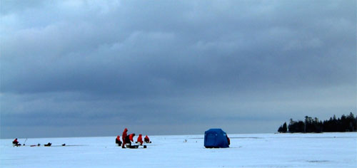 Lake Simcoe Ice Fishing