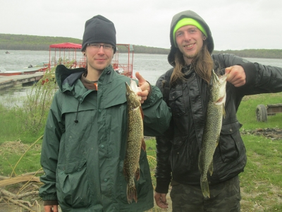 Pike Fishing on Little Lake, May 15 2016