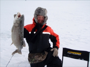Lake trout with the Foxee Minnow and Berkley Power Shiner